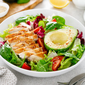 grilled chicken and avocado salad