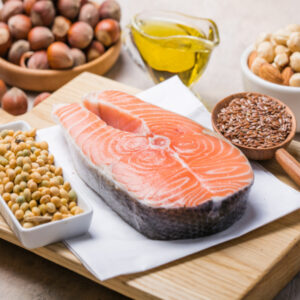 salmon and nuts